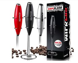 PowerLix Milk Frother Handheld Battery Operated Electric Foa