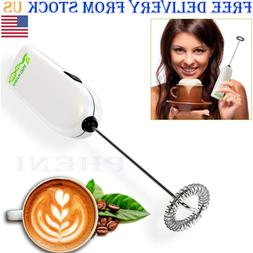 Milk Frother Handheld Battery Operated Kitchen Small Applian