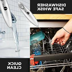 1byone Milk Frother Handheld Double Layer of Whisk High Powe