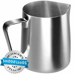 Milk Frother Pitcher Stainless Steel Milk Cup Espresso Latte