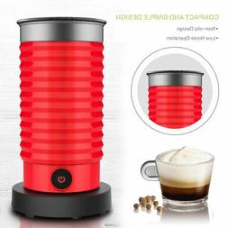 Milk Frother Red Coffee Espresso Machine Cafe Froth Maker El