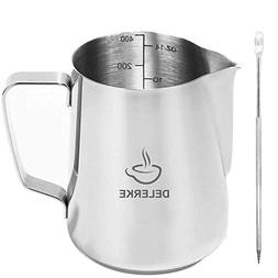 milk frothing pitcher stainless steel measurements on side c