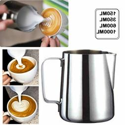 Milk Frothing Pitcher Stainless Steel Steaming Espresso Latt