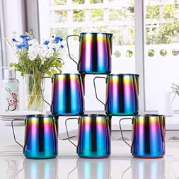 Milk Frothing Pitcher Stainless Steel - BEMINH Rainbow Color