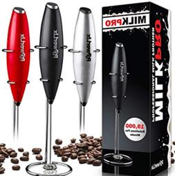 PowerLix Milk Handheld Frother  Battery Operated Electric Fo