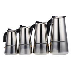 Moka Espresso Latte Percolator Stove Top Coffee Maker Filter