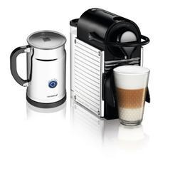 Nespresso A+C60-US-SS-NE Pixie Espresso Maker with Aeroccino