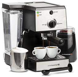 one espresso cappuccino machine set