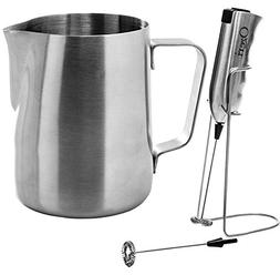 Ozeri OZMF Deluxe Stainless Steel Milk Frother and 12-Ounce