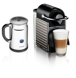Nespresso Pixie Espresso Maker With Aeroccino Plus Milk Frot