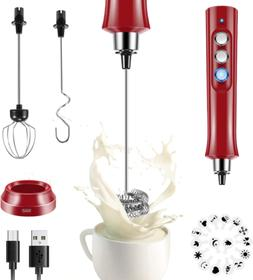 Rechargeable Milk Frother Handheld Electric Foam Maker with