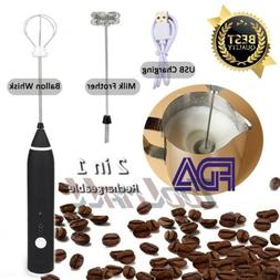 rechargeable whisk mixer coffee milk frother eggbeater