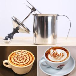 Stainless Steel 400ML Double Mesh Milk Frother Coffee Cappuc