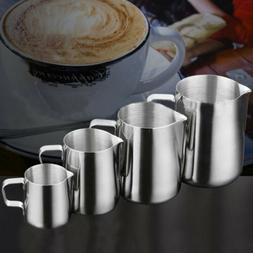 Stainless Steel Frothing Pitcher Pull Flower Cup Milk Frothe