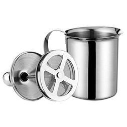 BESTOMZ Stainless Steel Handmade Milk Frother Double Mesh Mi