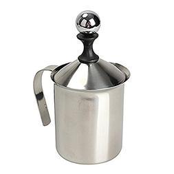 TTnight 400ml Stainless Steel Milk Frother Double Mesh Milk