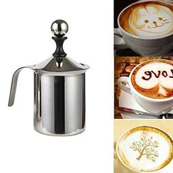 stainless steel milk frother double