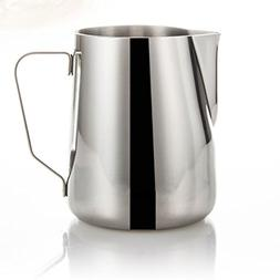 BESTOMZ Stainless Steel Milk Frothers Milk Pour Pot Cup Mug