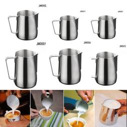 Stainless Steel Milk Frothing Jug Frother Coffee Latte Conta