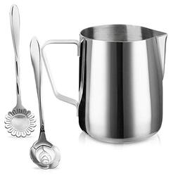 Milk Frothing Pitcher Jug - 12oz/350ML Stainless Steel Coffe