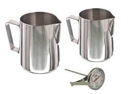 Stainless Steel Frothing Milk Steaming Pitcher 12 oz and 20