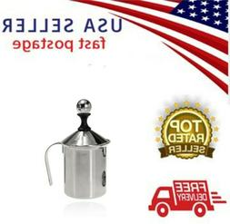 Stainless Steel Pump Milk FROTHER Creamer Foam Cappuccino
