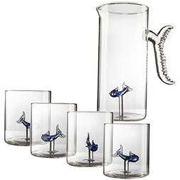 Wine, Water, Whiskey Fish Decanter and Glasses - The Wine Sa