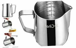 X-Chef Frothing Pitcher Stainless Steel Milk Pitcher 12 oz